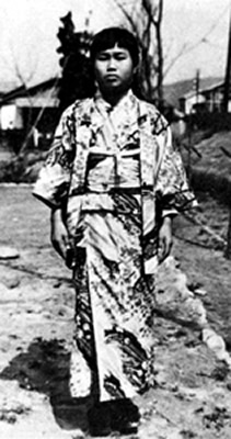 晴れ着姿の禎ちゃん 1955(昭和30)年春 提供:佐々木雅弘氏